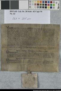 Ablassbrief für die Grafen Julius und Ludolf von Wunstorf