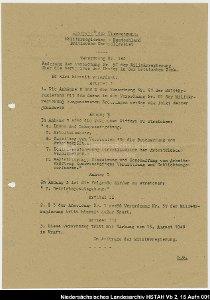 Verordnung Nr. 55 der britischen Militärregierung zur Gründung des Landes Niedersachsen
