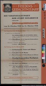 Plakat zum 300jährigen Jubiläum des Westfälischen Friedens 1648-1948