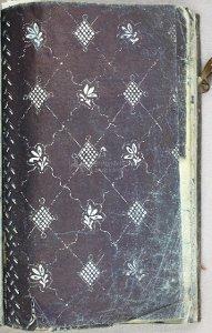 Buch mit Blaudruckmustern aus der Stader Werkstatt Graevius