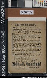 """""""Hannoveraner!"""" Aufruf der preußischen Regierung"""