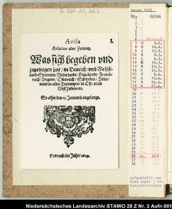 AVISO - die älteste noch erhaltene Wochenzeitung
