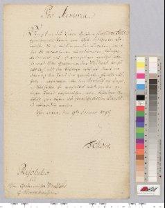 Abrechnung der aus den Herrenhäuser Gärten gelieferten Früchte nach neufestgesetzten Preisen. 1798
