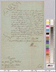 Anbau von Gartengewächsen im Berggarten und Wiedereinstellung des Meistergesellen Gämelke. 1814