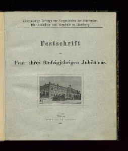 Aktenmässige Beiträge zur Vorgeschichte der Städtischen Ober-Realschule und Vorschule zu Oldenburg