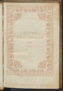 Almanach zur hundertjährigen Jubelfeier der Georgia Augusta