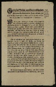 Fernere Erklärung des Kredit-Edikts für die Universität zu Göttingen