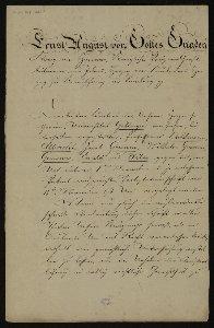 Entlassungsurkunde von Ernst August, König von Hannover an die Göttinger Sieben : [Brief]