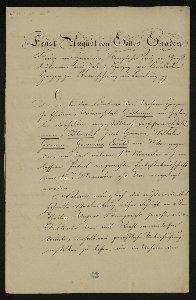 Entlassungsschreiben von Ernst August, König von Hannover an die Göttinger Sieben : [Brief]