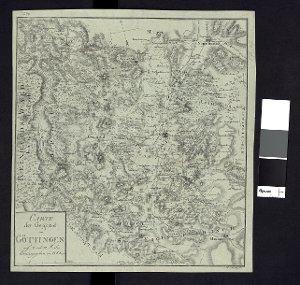 Carte der Gegend um Göttingen auf 2. und 3. Meilen