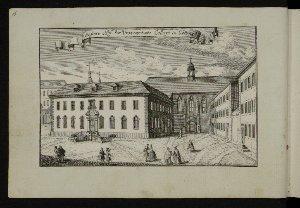 Äußere Hof des Universitaets Collegii in Göttingen : [Stammbuchblatt]