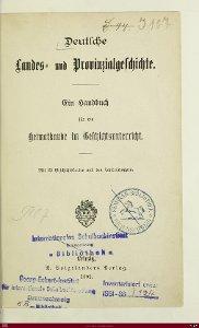 Deutsche Landes- und Provinzialgeschichte