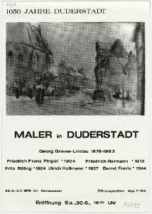 1050 Jahre Duderstadt Maler in Duderstadt 30.6. - 5.7.1979