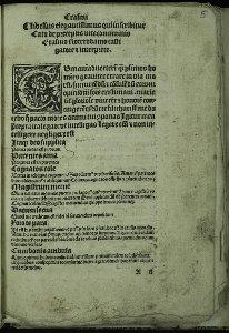 [Libellus elegantissimus qui in scribitur Cato de preceptis vite communis