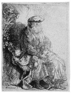 Abraham liebkost Isaak / Jakob und Benjamin
