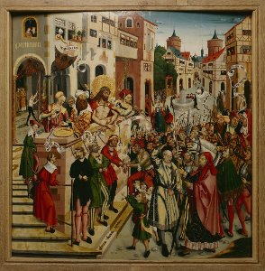 Altar des Braunschweiger Domes: Mitteltafel mit der Schaustellung Christi (Ecce homo)