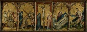 Altartafel mit Passionsszenen