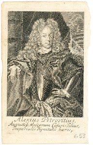 """""""Alexius Petrovitius"""" - Alexei Petrowitsch, Alexei von Russland (1690-1718)"""