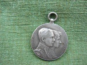 Ehe-Medaille: Vermählung Prinz Ernst August und Prinzessin Viktoria Luise 1913