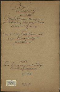 Rechtsaufzeichnung Elisabeth von Braunschweig