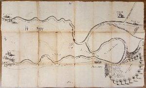 Plan des Ruhmeeinbruchs von 1694