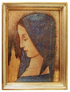 GK Rohde, Mädchen mit blauem Kopftuch