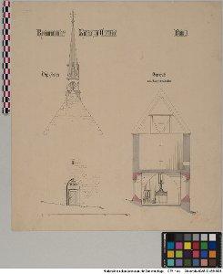 Aufsicht auf die Westseite der Kapelle zu Oldenrode, Blatt 3 [OT Oldenrode, Stadt Moringen, Ldkr. Northeim]