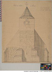 Bauaufnahme der Westseite des Kirchthurms zu Sulingen [OT Sulingen, Stadt Sulingen, Ldkr. Diepholz]