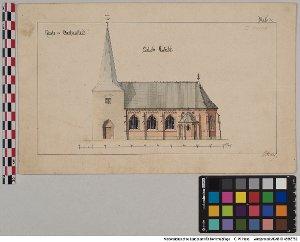 Plan der Kirche zu Wartjenstedt, Blatt 2 [OT Wartjenstedt, Gem Baddeckenstedt, Ldkr. Wolfenbüttel]