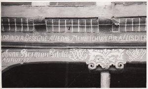 Diepholz, Barver, Haus Nr. 40, Bauernhof, Inschrift über Tür