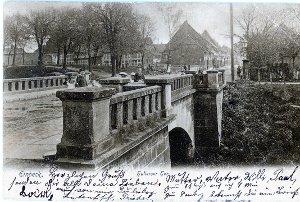 Ansichtskarte / Brücke am Hullerser Tor / Einbeck