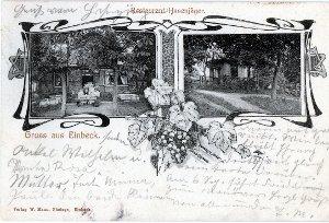 """Ansichtskarte """"Gruss aus Einbeck"""" / Restaurant Hasenjäger"""