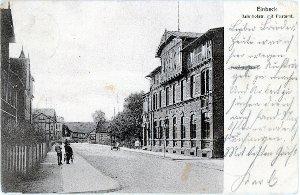 Ansichtskarte / Bahnhofstraße mit Postamt / Einbeck