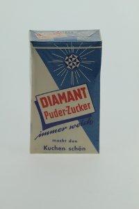 Puderzucker-Schachtel, Marke Diamant