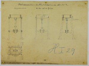 Abhebemaschine für Modellplatten, 1893