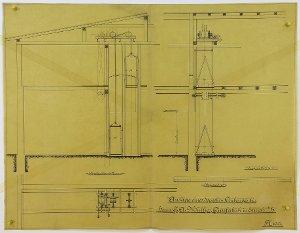 Anlage eines doppelten Aufzuges für die Gipsfabrik von Herrn G.A. Müllges in Ellrich, 1911