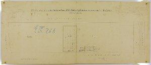 Situationsplan von dem Grundstück des Herrn Haltenhoff und zum angrenzenden Nachbarn - Tischlermeister Liesemann -  in (Bad) Lauterberg, 1882