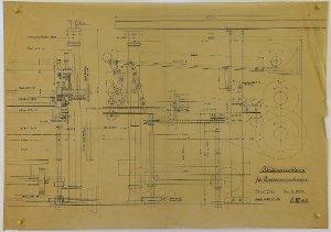Ablegevorrichtung für Pappenmaschinen, 1915