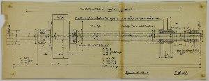 Antrieb für Rollenstangen an einer Papiermaschine für die Herzberger Papierfabrik in Herzberg am Harz, 1922