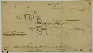 Antriebsteile zur Glockenmühle Nr 3 für die Friedrich-Krupp AG in Magdeburg-Buckau, 1902