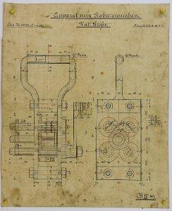 Apparat zur Schlemmsteinform zum Rohre ausziehen, 1912