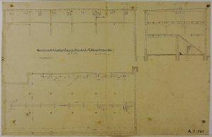 Anordnung von Elevator und Transportband für das Rittergut in Zschernitz, 1891