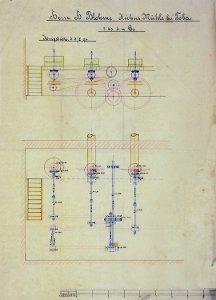 (Transmission und) Mühlenanlage für Herrn H. Blohme von der Kühnsmühle in Toba, 1894