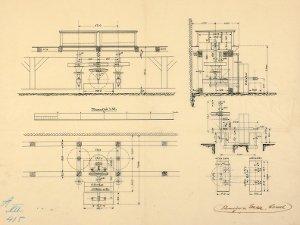 Anlage von zwei Farbmahlgängen für Firma Fürmeyer & Witte in Mönchehof bei Kassel, um 1905