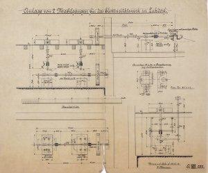 Anlage von zwei Mahlgängen für das Elektrizitätswerk in Luhdorf, 1913