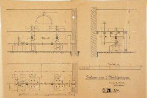 Anlage von zwei Mahlgängen für Mühlenbaumeister W. Pätzmann in Winsen a.d. Luhe, 1914