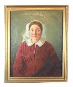[Alte Frau im roten Kleid], um 1840 (N. N.)