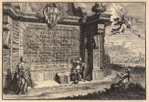 Georg Daniel Heumann: Wahre Abbildung der Stadt Göttingen (1747) - N. I. Widmungstitel für Gerlach Adolph von Münchhausen