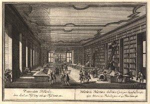 Georg Daniel Heumann: Wahre Abbildung der Stadt Göttingen (1747) - N. VII. Universitaets Bibliothec