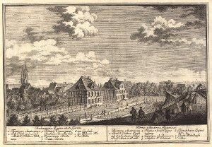 Georg Daniel Heumann: Wahre Abbildung der Stadt Göttingen (1747) - N. VIII. 8: Medicinischer Universitaets Garten